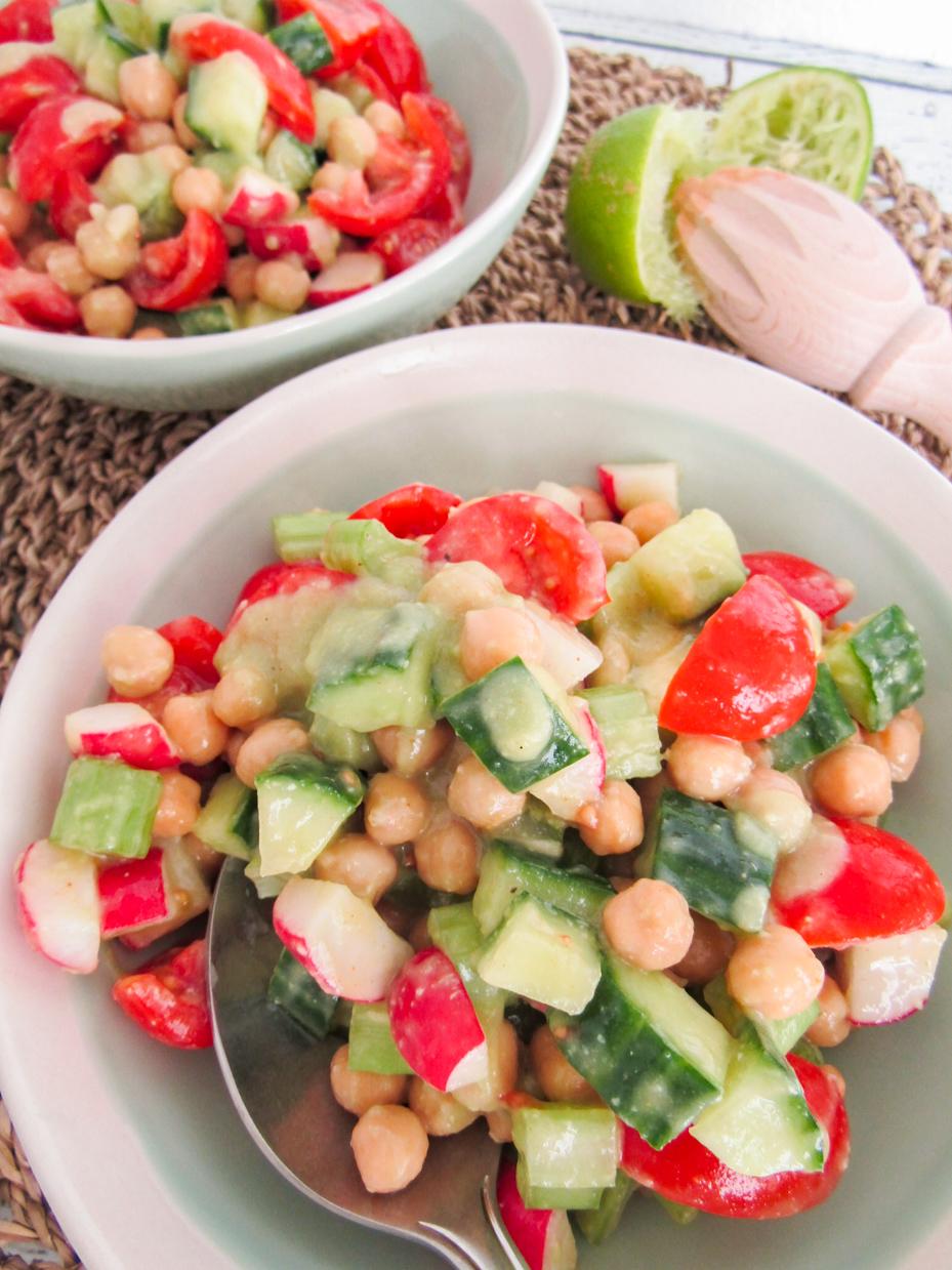 salade van kikkererwten
