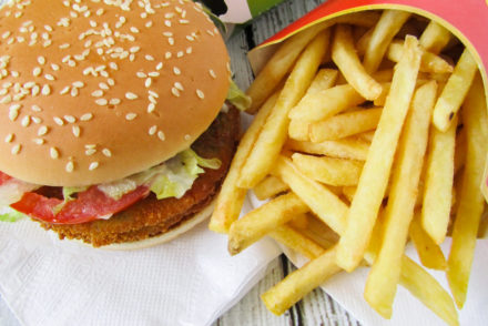 Vegan burger bij McDonald's