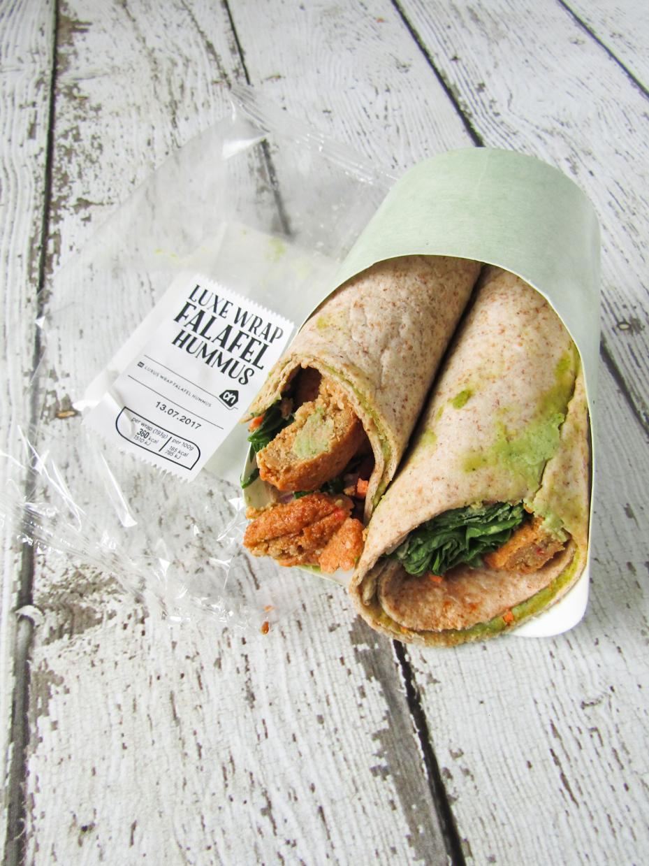 albert heijn luxe wrap falafel hummus