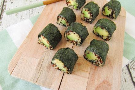 vegan sushi van quinoa