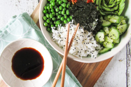 vegan sushi bowl