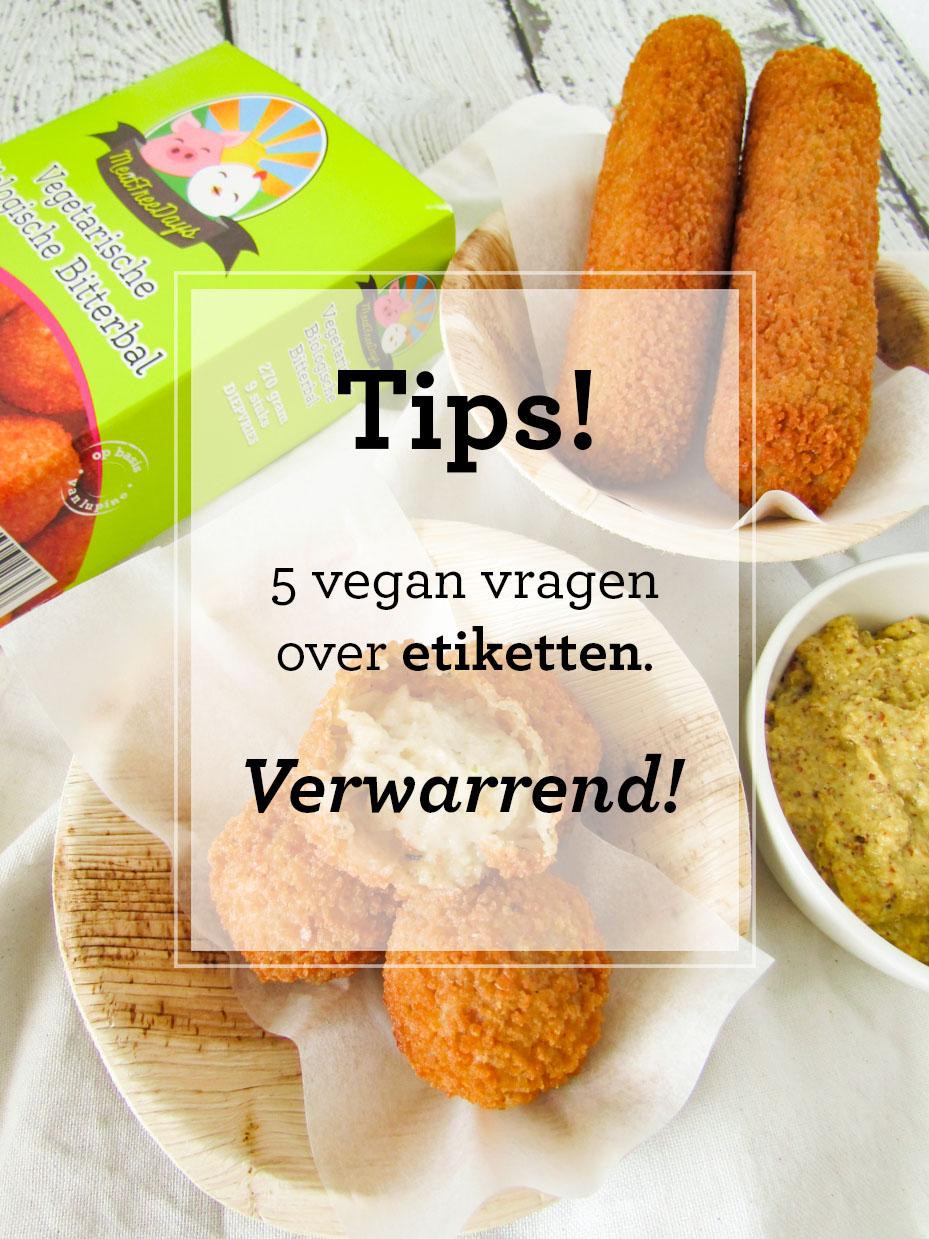 vegan vragen over etiketten