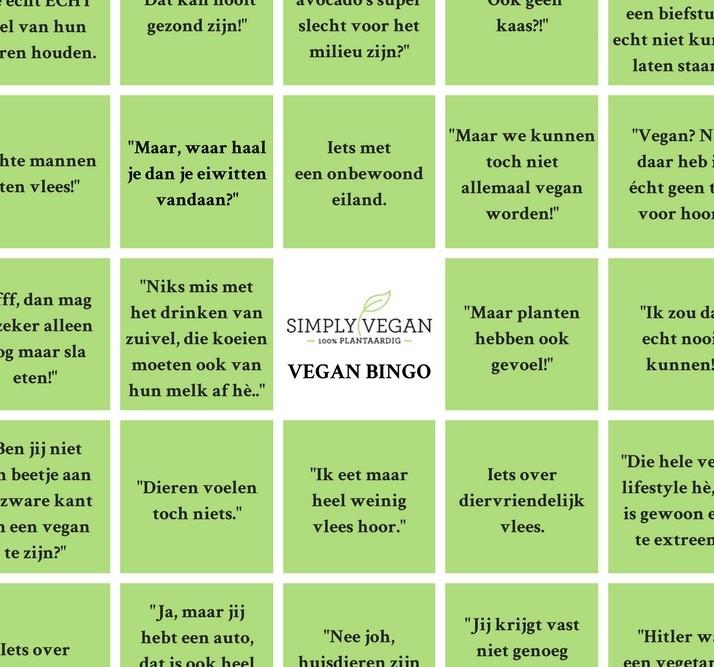 vegan bingo