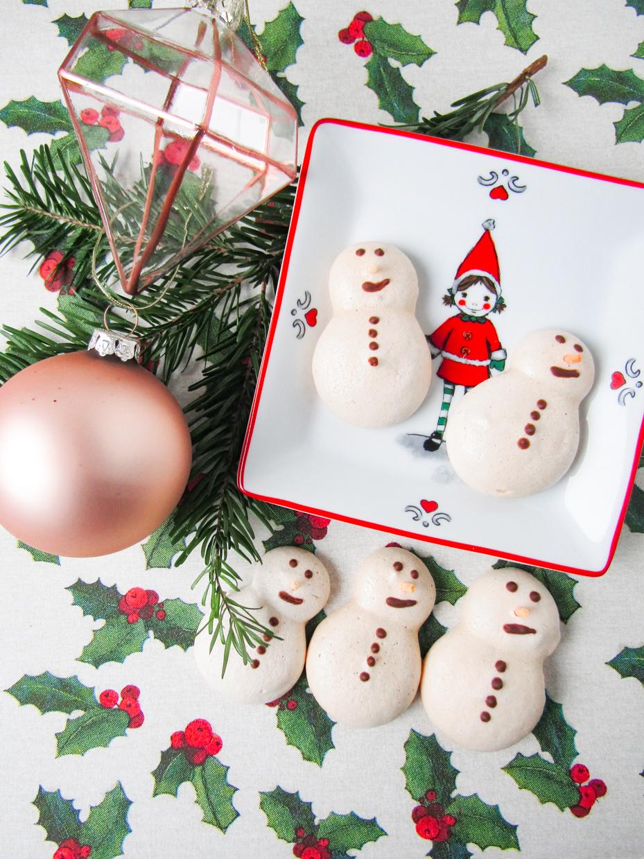 vegan sneeuwpopjes van meringue