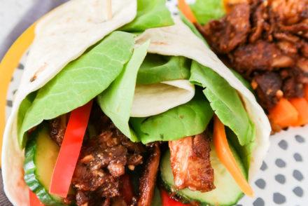 aziatische vegan wraps