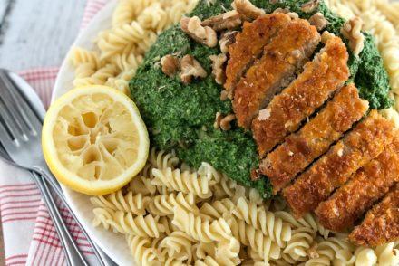pasta met spinaziepesto